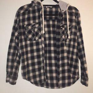Hooded Plaid Flannel